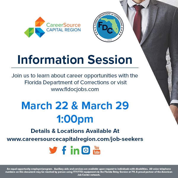 Florida Department of Corrections Career Information Session